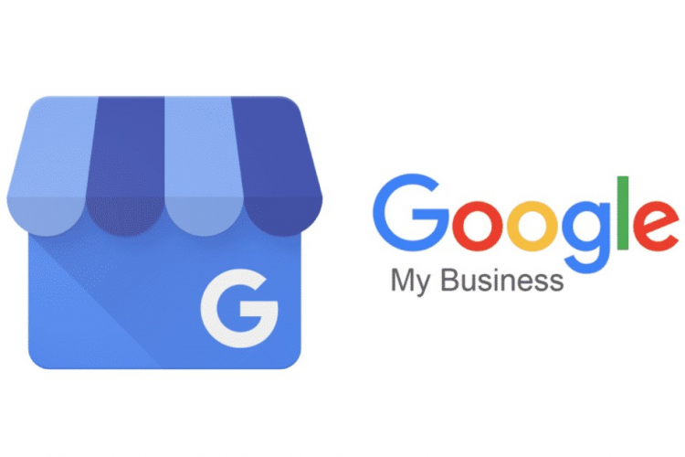 google my business logo with text to the right